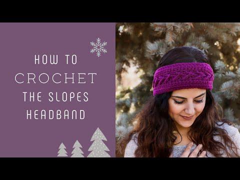 How to Crochet the Slopes Headband