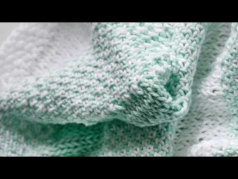 How to Knit the Woven Knit Stitch With Two Colors