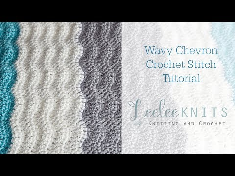 Wavy Chevron Crochet Stitch Tutorial