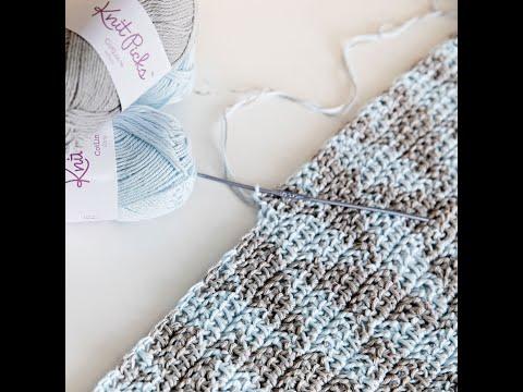 Herringbone Half Double Crochet With Two Colors