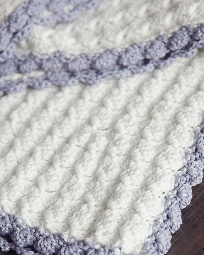 Crochet Baby Blanket Patterns Popcorn Stitch : Leelee Knits Blog Archive Vintage Chic Free Crochet Baby ...