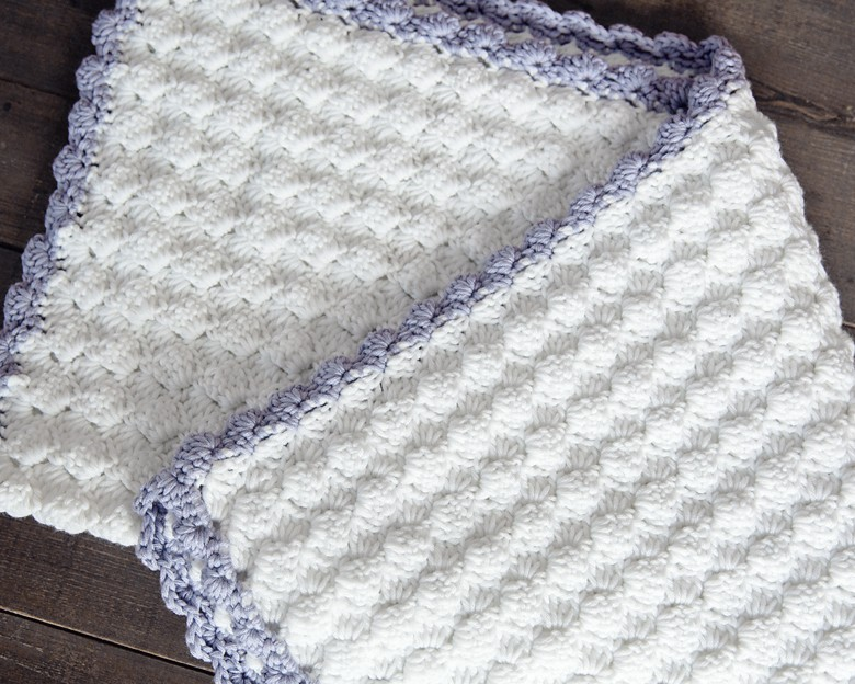 vintage crochet baby blanket