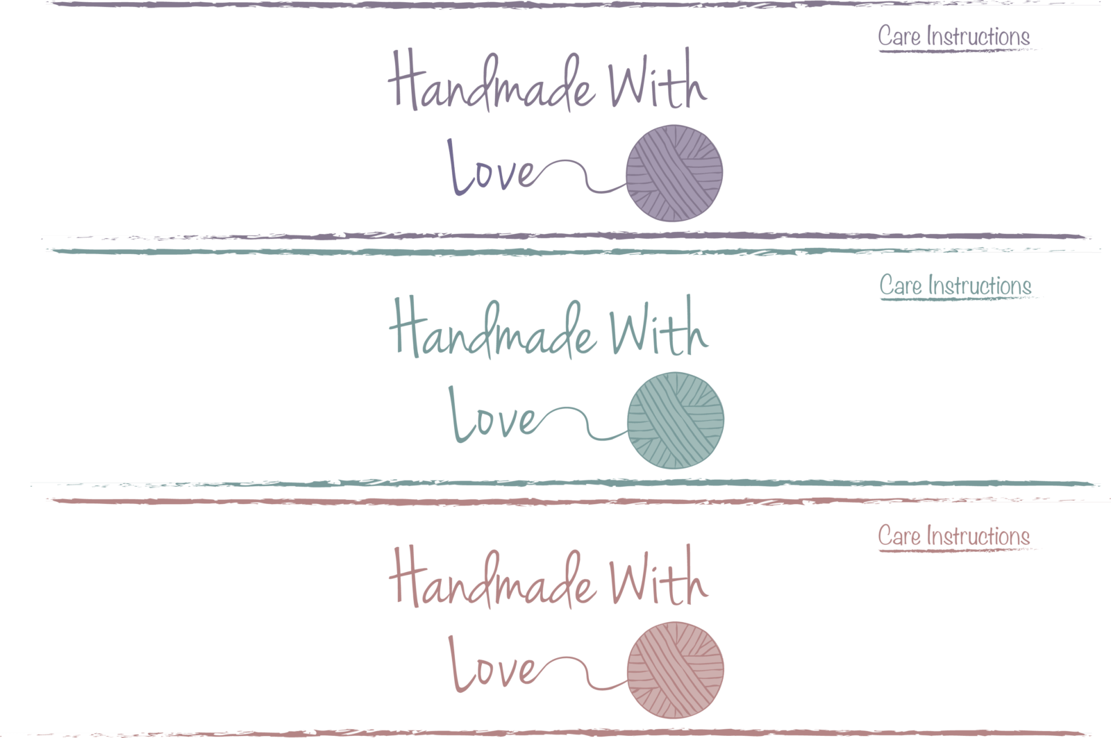Handmade With Love Labels