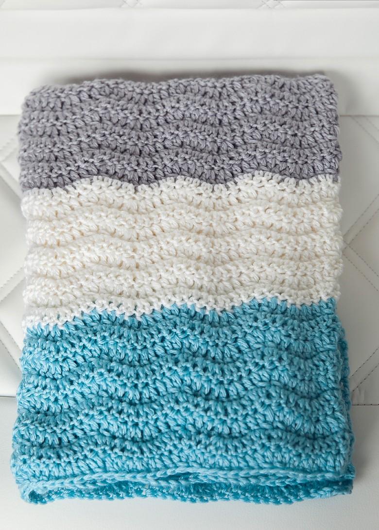 Free Chevron Baby Blanket Crochet Pattern Leelee Knits