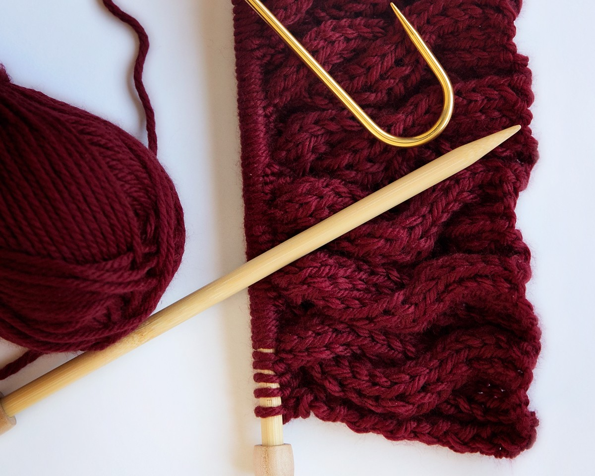 Cabled Scarf Knitting Pattern