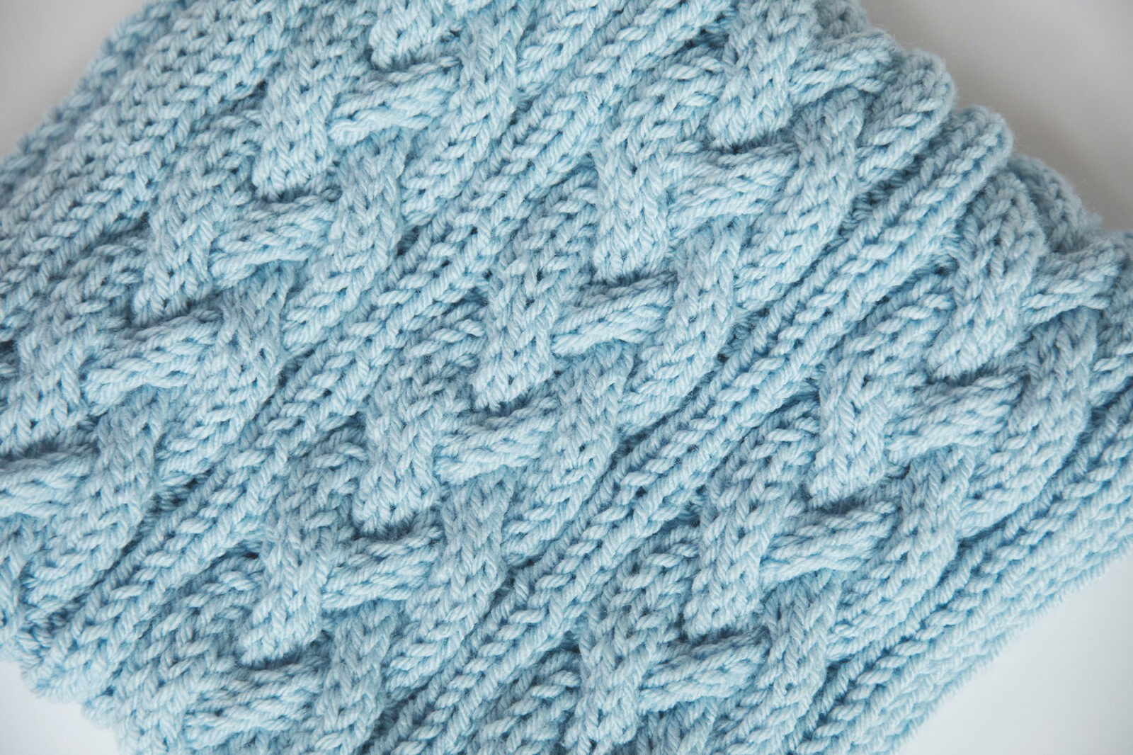 Cable Knit Scarf Pattern Top View