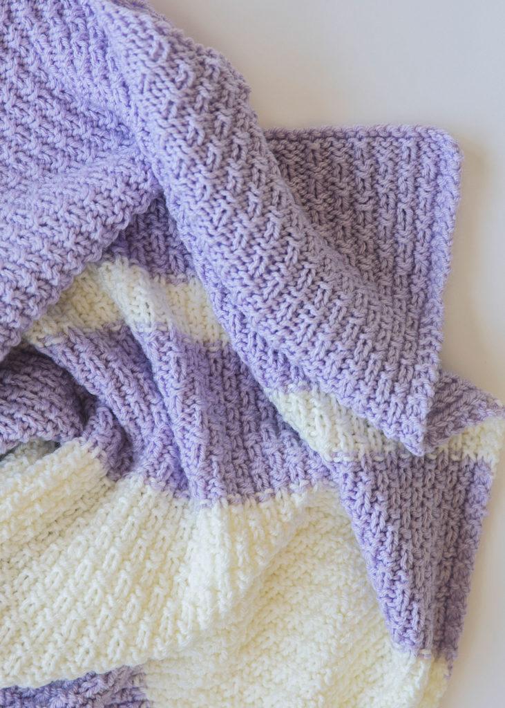 Easy Knit Baby Blanket Pattern - Leelee Knits