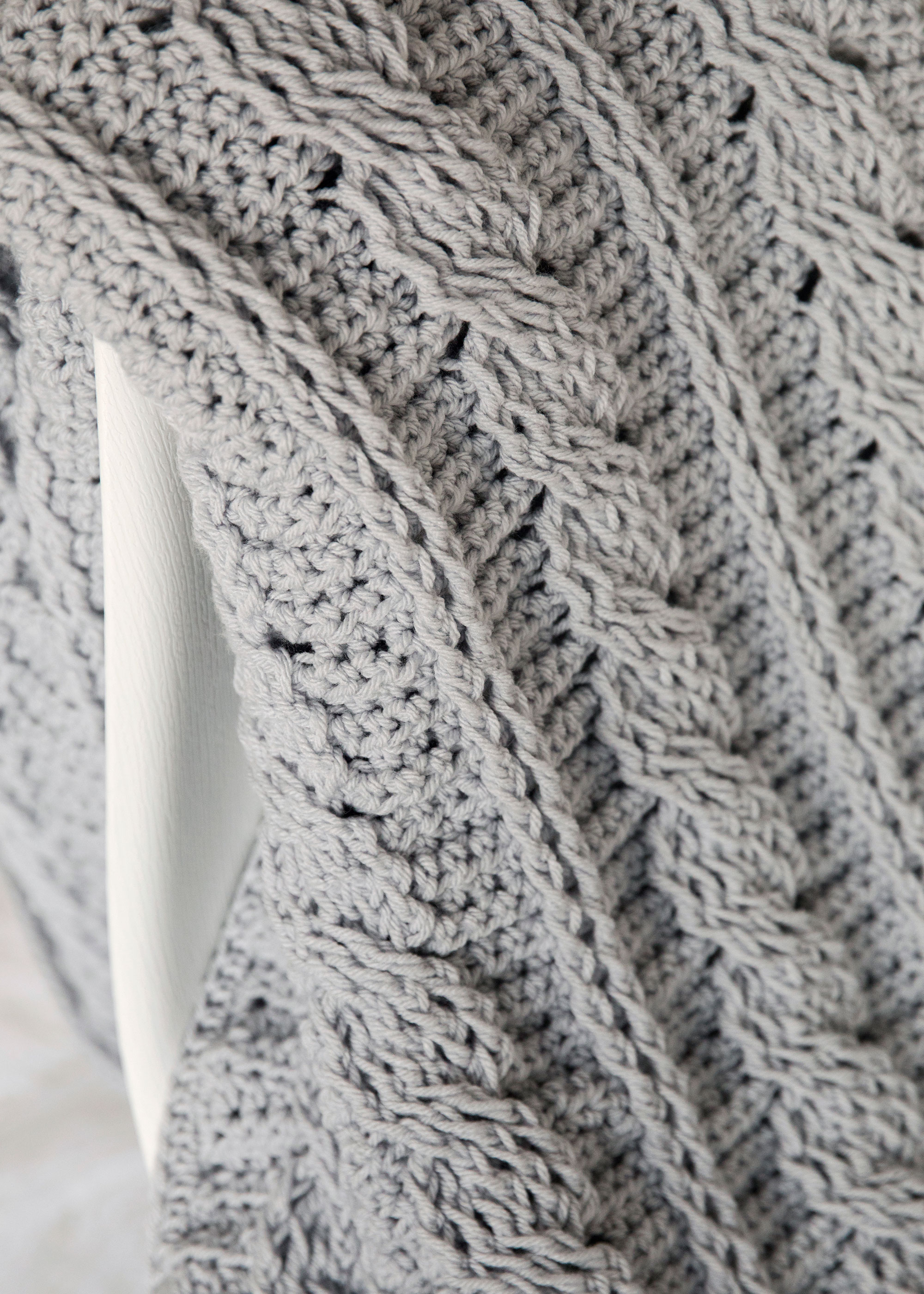 Timeless Cabled Throw Crochet Pattern Leelee Knits
