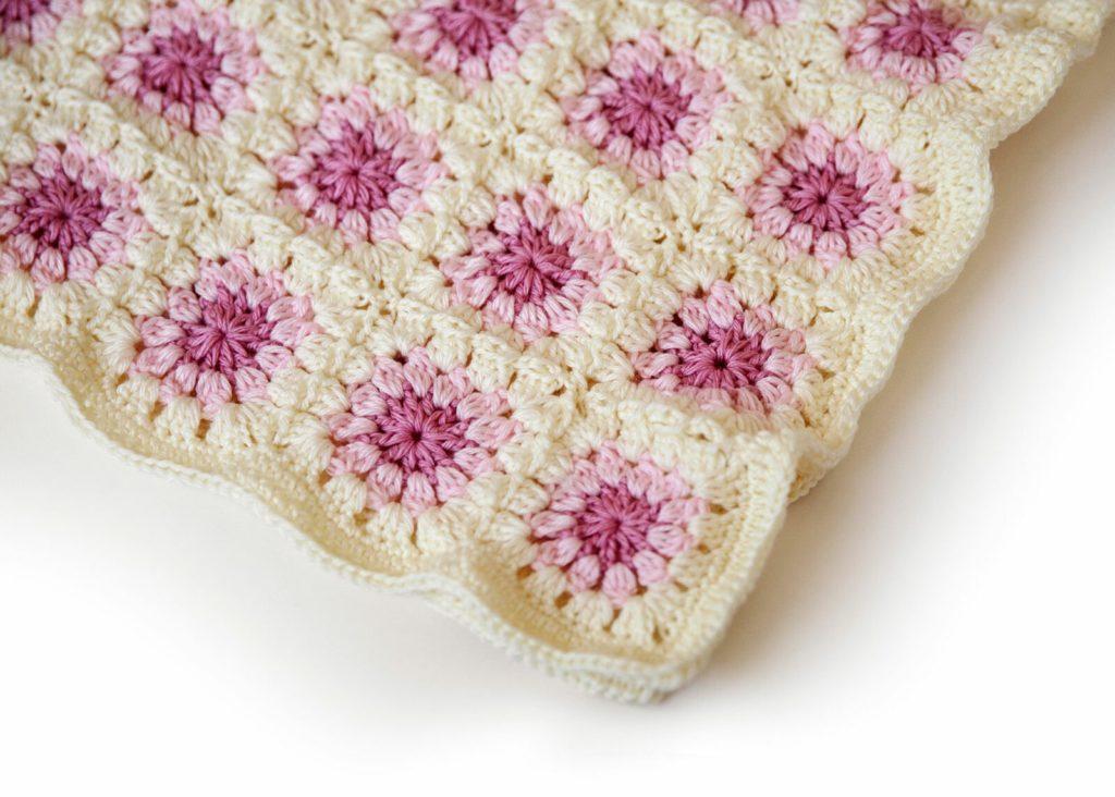 Granny Square Crochet Blanket Pattern Side View