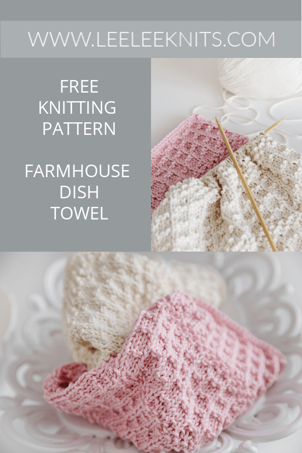 free farmhouse knitted dish towel pattern