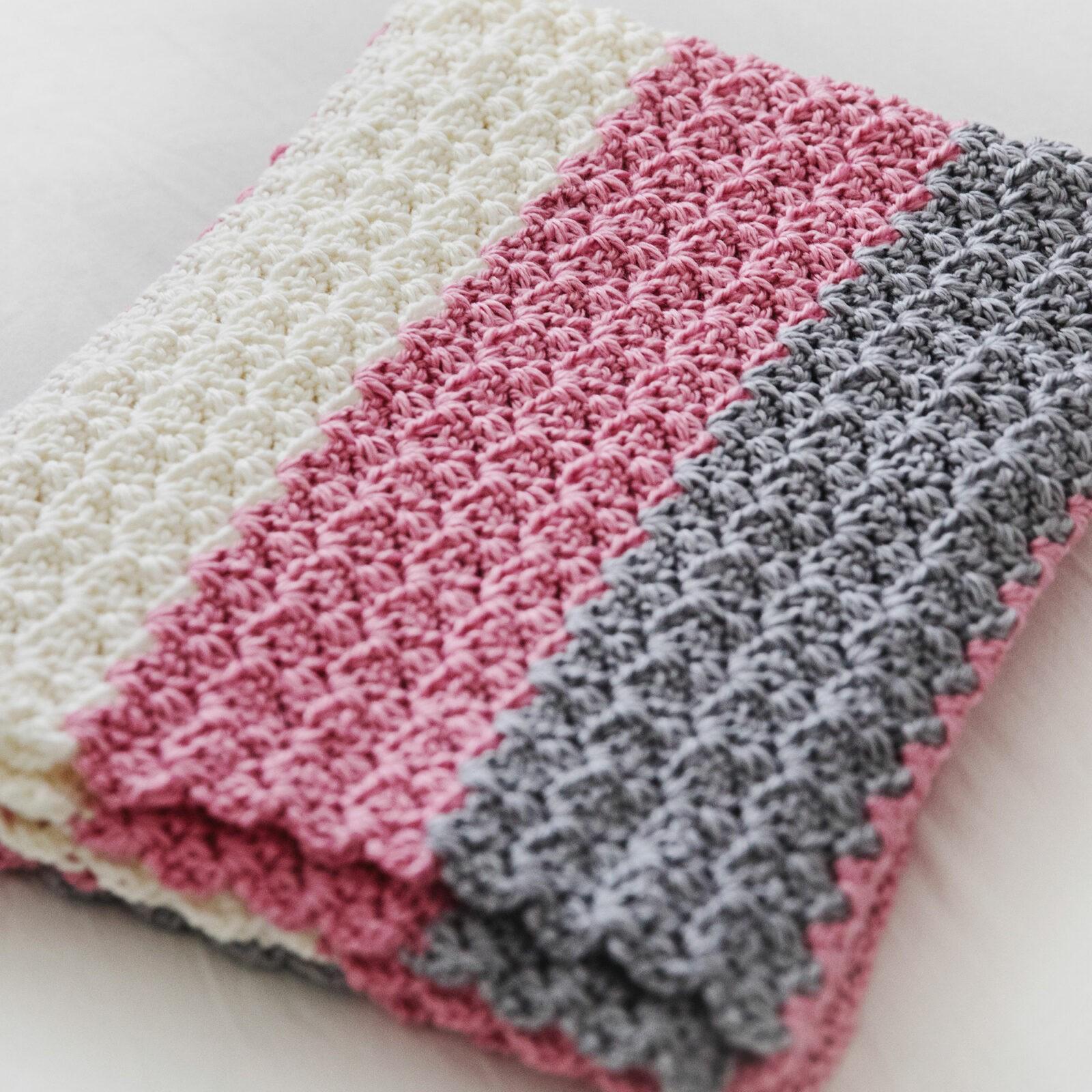 Simply Sweet Crochet Baby Blanket Pattern Leelee Knits