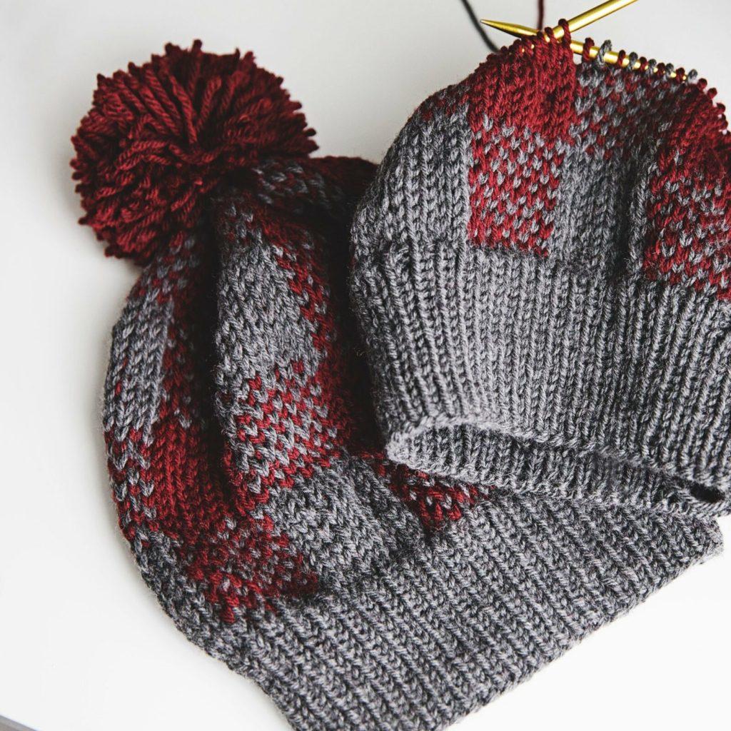 Buffalo Plaid Knit Hat Pattern