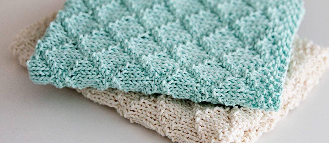 Modern Knit Dish Towel Pattern