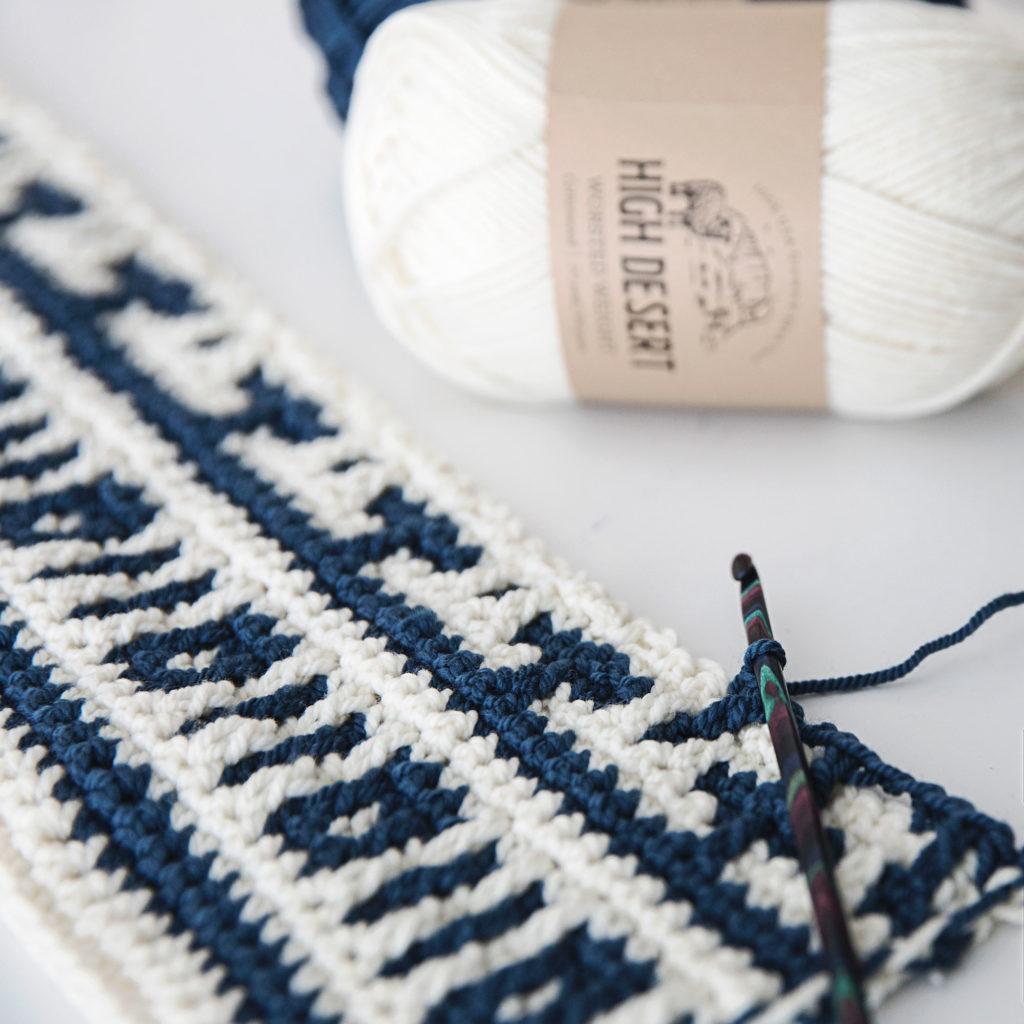 Mosaic Crochet Blanket Wrap Swatch