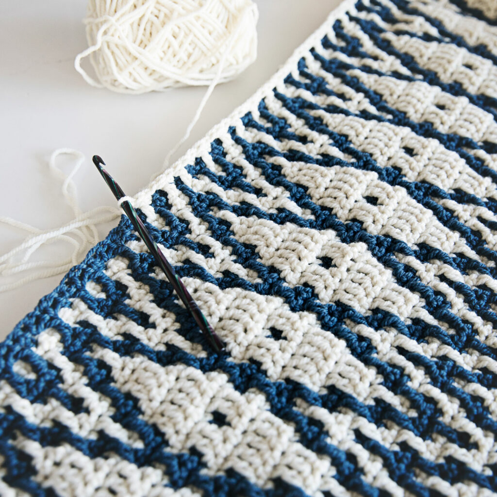 Mosaic Crochet Blanket Wrap