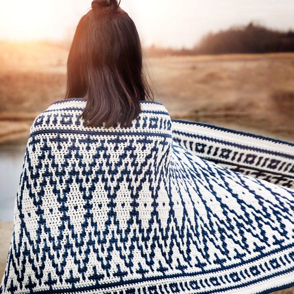Mosaic crochet wrap