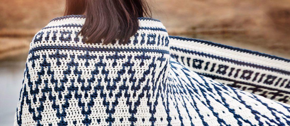 Mosaic Crochet Blanket Wrap Pattern
