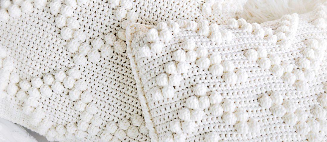 Crochet Bobble Stitch Pillow Covers Pattern