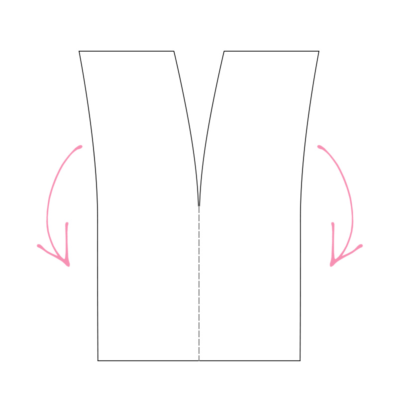 Assembly diagram for swimsuit cover up