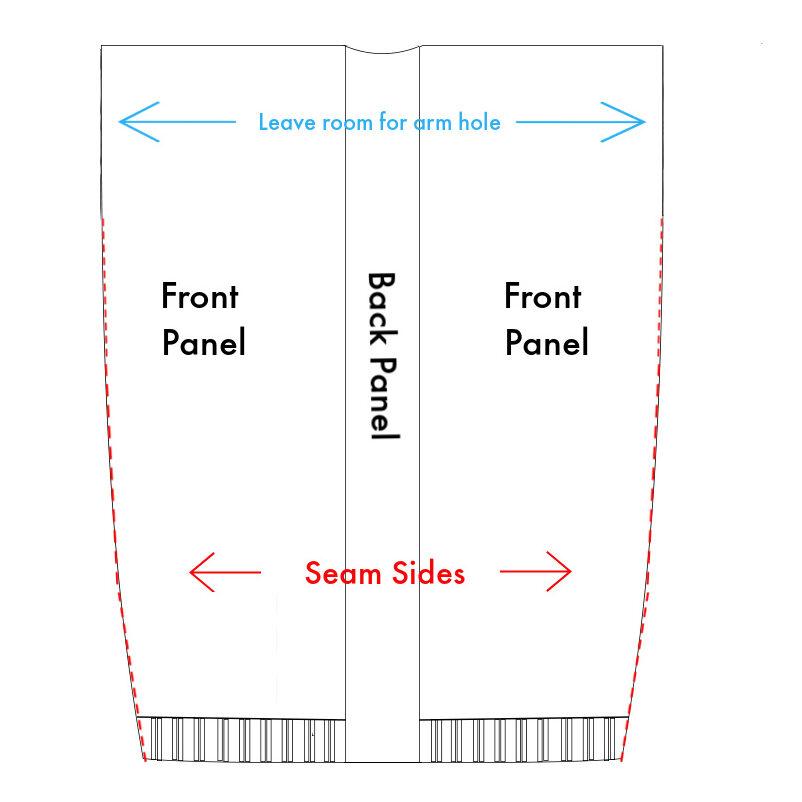 Patrón de tejido de cárdigan Instrucciones de costura