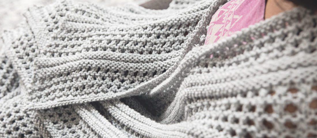 Modern Lace Knit Blanket Pattern